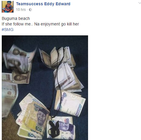 Look at the way they disgraced guy flaunting naira notes on FB