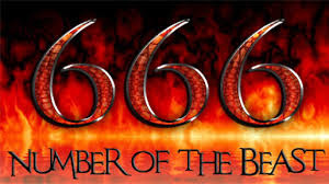 The mark of the beast 666 of anti-Christ