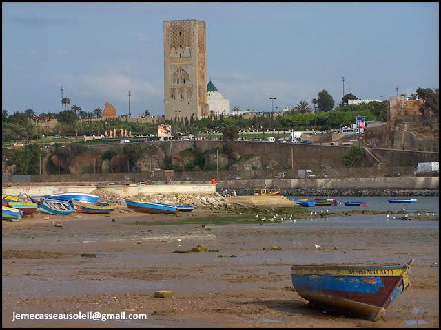 Oued Bouregreg avec la Tour Hassan