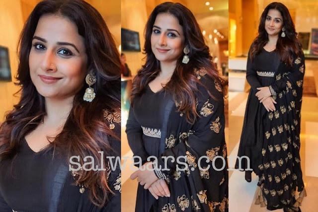 Vidya Balan in Black Salwar Kameez