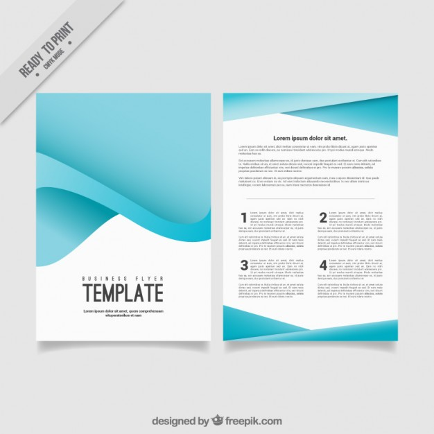 Blue abstract business flyer - Free Download