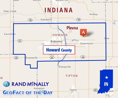 Map of Plevna, Indiana
