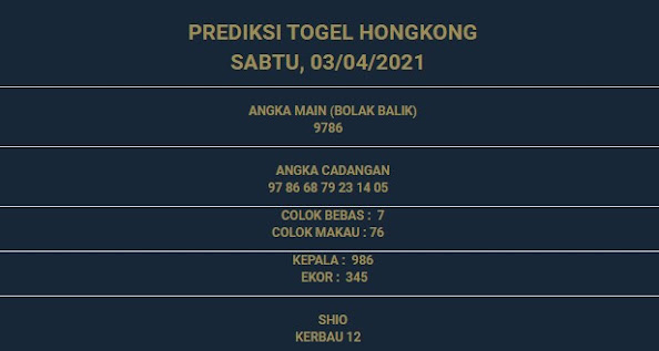 3 - PREDIKSI HONGKONG 03 APRIL 2021