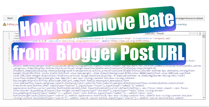 How To Remove The Date From Blogger Post URL in New Updated Blogger
