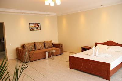 1-комнатные апартаменты (вариант 12) отельного комплекса в Семидворье
