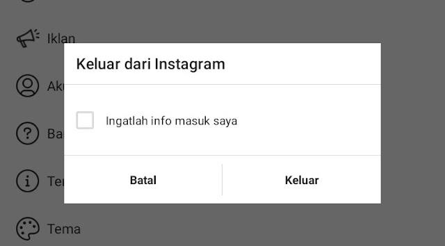 Cara Logout atau Keluar Akun Instagram Secara Aman
