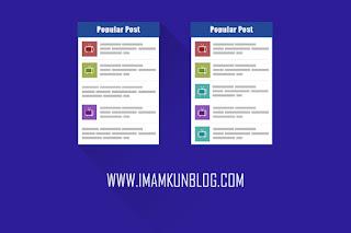Cara Membuat Widget Popular Post Keren di Blog