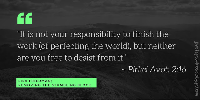 Pirkei Avot; Removing the Stumbling Block