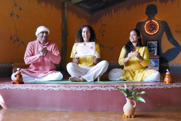 Student Getting TTC Yoga Certification at Inteyoga Mysore India