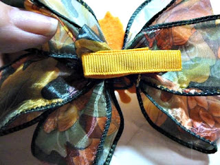 autumn loopy hair bow