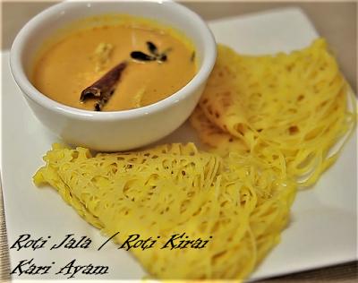 Makanan Melayu Pekanbaru Riau Roti Jala Roti Kirai kari ayam