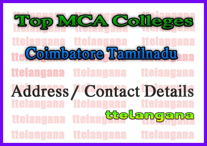Top MCA Colleges in Coimbatore Tamilnadu