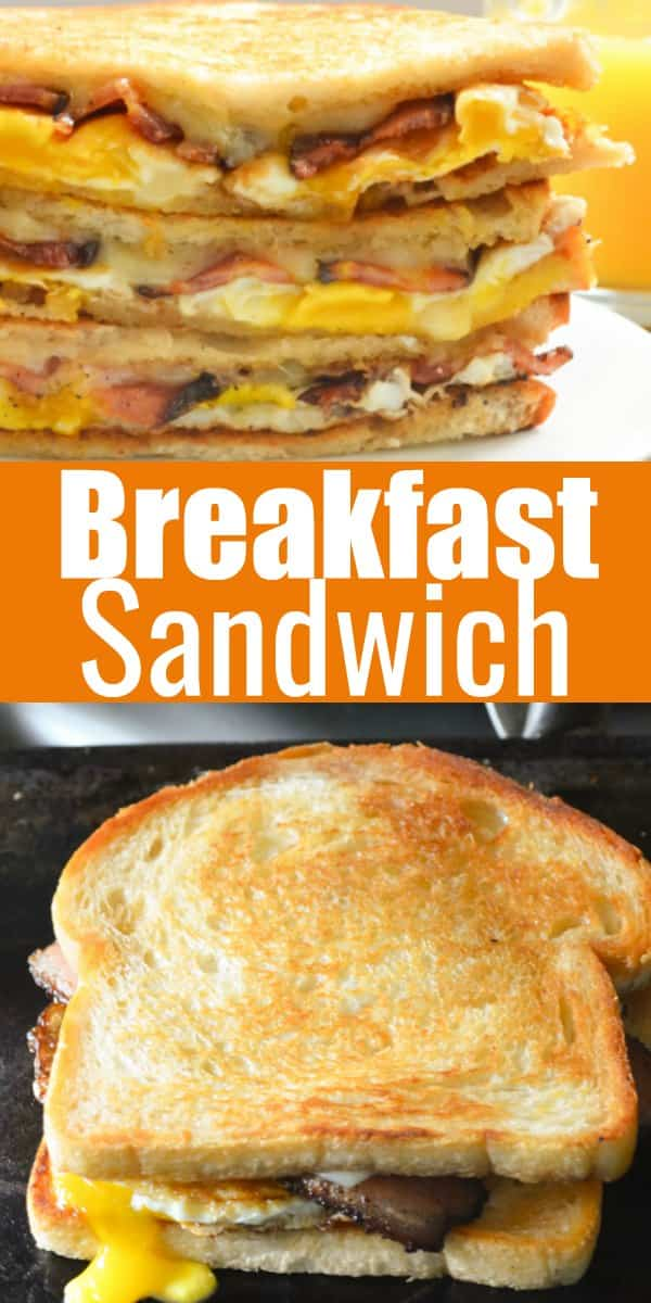 Bacon and Egg Grilled Breakfast Sandwich recipe is a favorite grab and go breakfast from Serena Bakes Simply From Scratch.