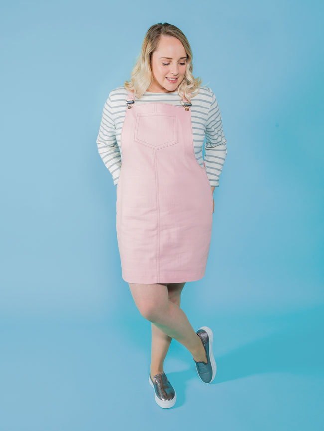 Cleo dungaree dress sewing pattern - Tilly and the Buttons