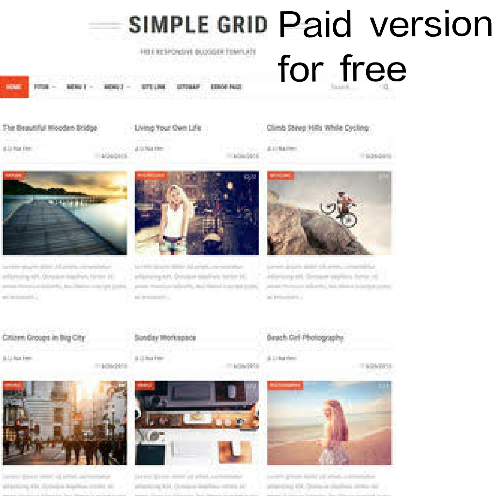 Simple Grid Blogger Template Gourab Design