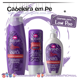 Máscara, Condicionador e Leave in Miracle Curls - Aussie (Low Poo)