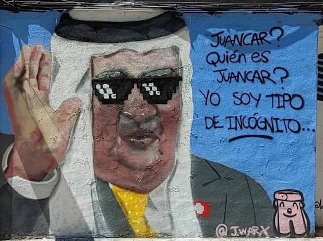 """Juancar? Quién es Juancar? Yo soy tipo de incógnito..."" restauran el grafiti del rey emérito"