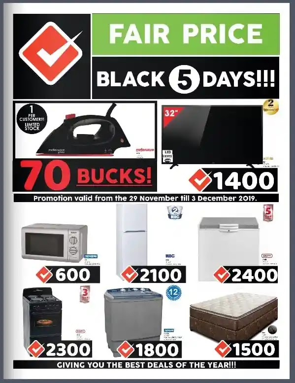 Fair Price Black Friday Deals