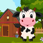 Games4King Cute Calf Rescue Walkthrough
