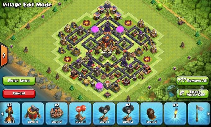 Susunan Base Trophy TH 8 Terbaru untuk pertahanan Terbaik Clash Of Clans 23