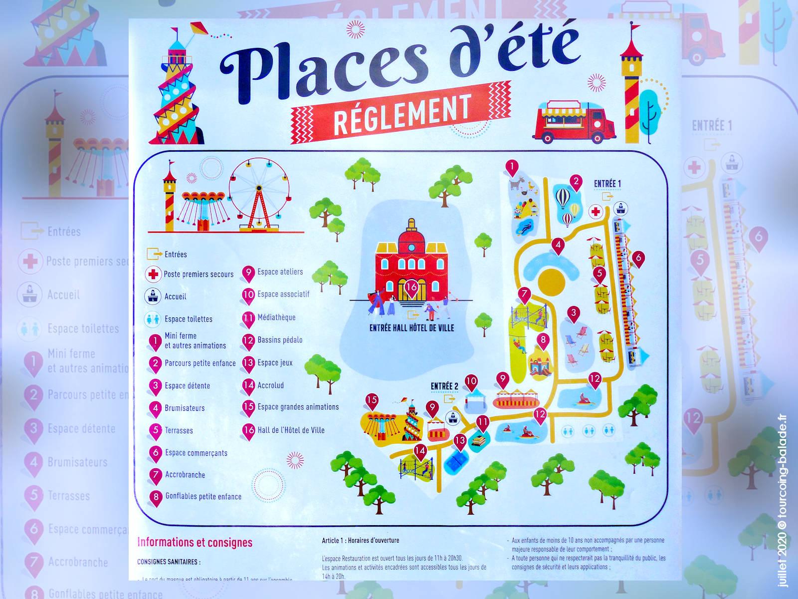 Tourcoing Places d'Été, juillet Août 2020