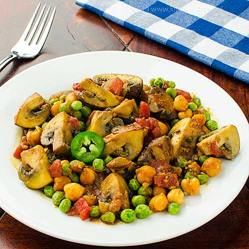 Mushroom and Chickpea Curry