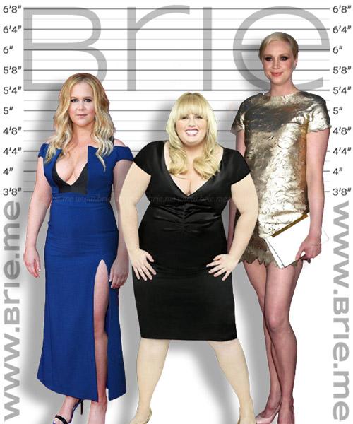 Rebel Wilson with Amy Schumer and Gwendoline Christie