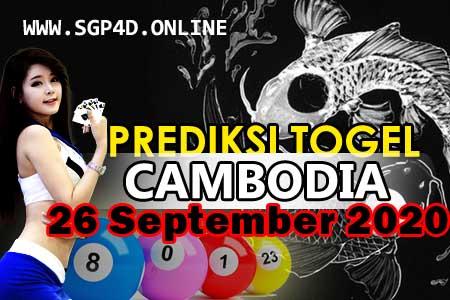 Prediksi Togel Cambodia 26 September 2020