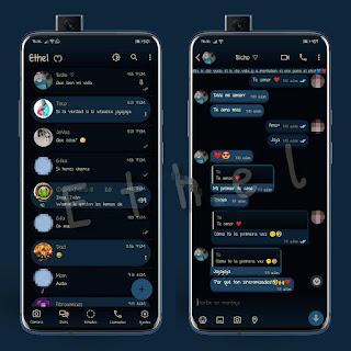 Elegant Navy Dark Theme For YOWhatsApp & Mn WhatsApp By Ethel