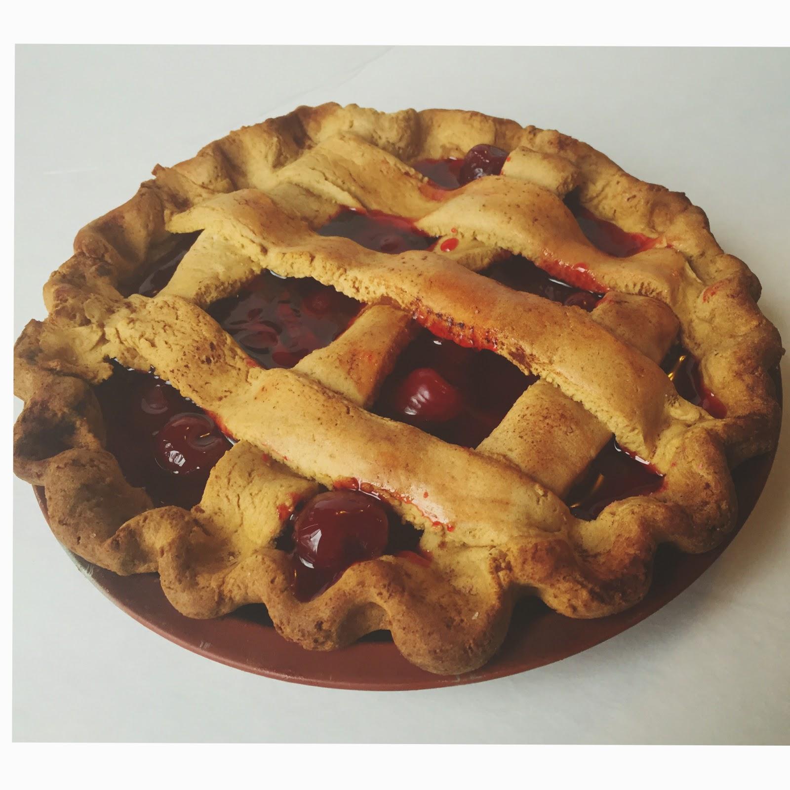 Lattice Crust Cherry Pie Farmhouse Fake Food