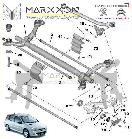 Peugeot    Citroen    Rear AxleDriveshaftDifferentialMarxxon Machinery         2016