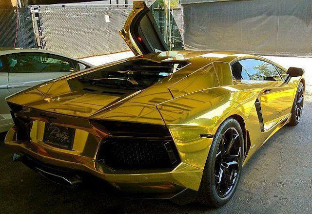 Car Amp Bike Fanatics Golden Lamborghini Aventador