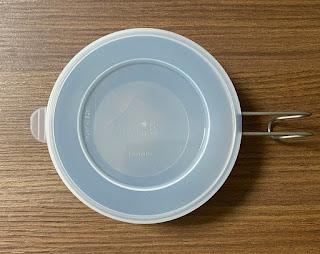 ダイソー シェラカップ用フタをはめた状態