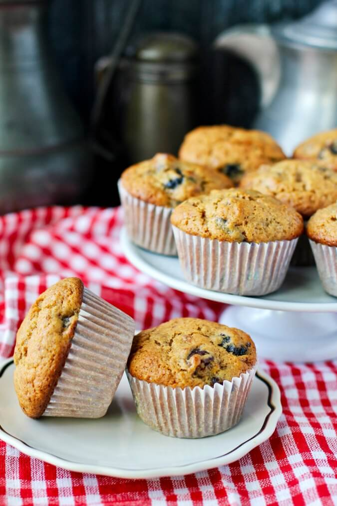 Date, Prune, and Dried Cherry Muffins