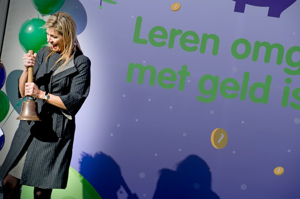 Queen Maxima at the start of the 6th edition of the Money Week 2016