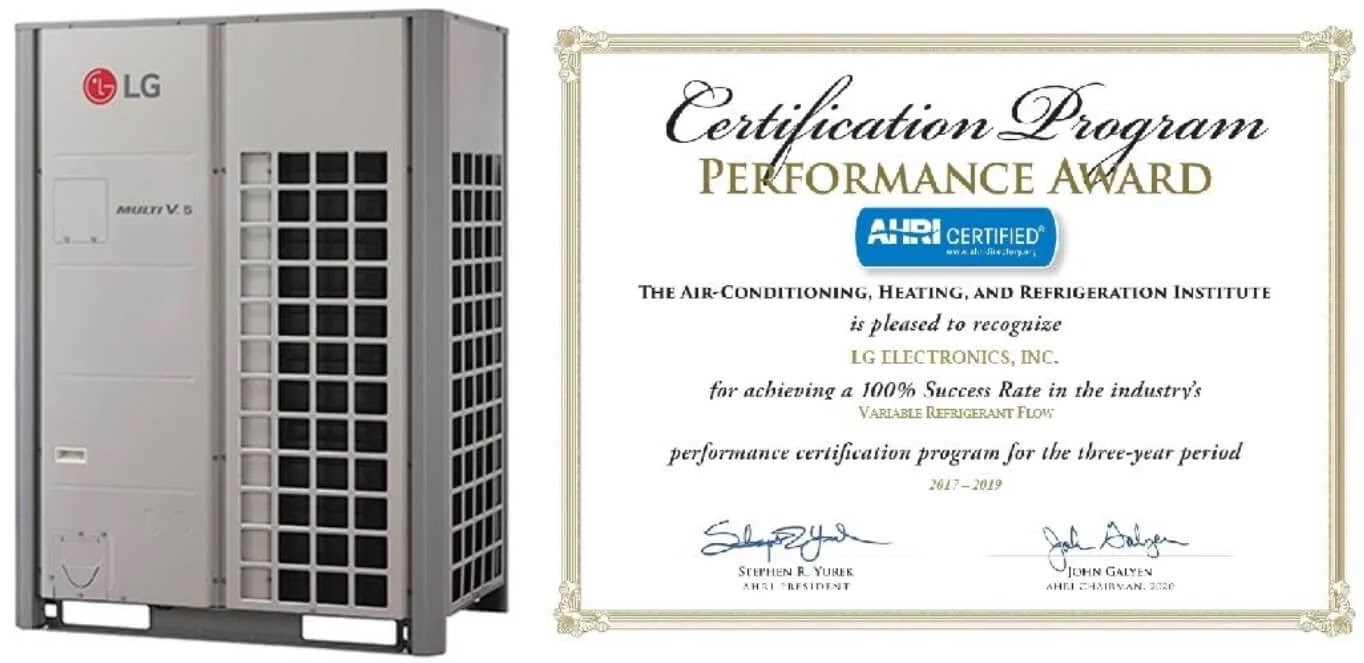 LG Wins Coveted AHRI Performance Award for Third Year Straight