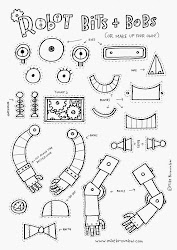 robots draw drawing robot worksheets craft children word elementary drawings pages words colouring magazine own easy bits build robotics writing