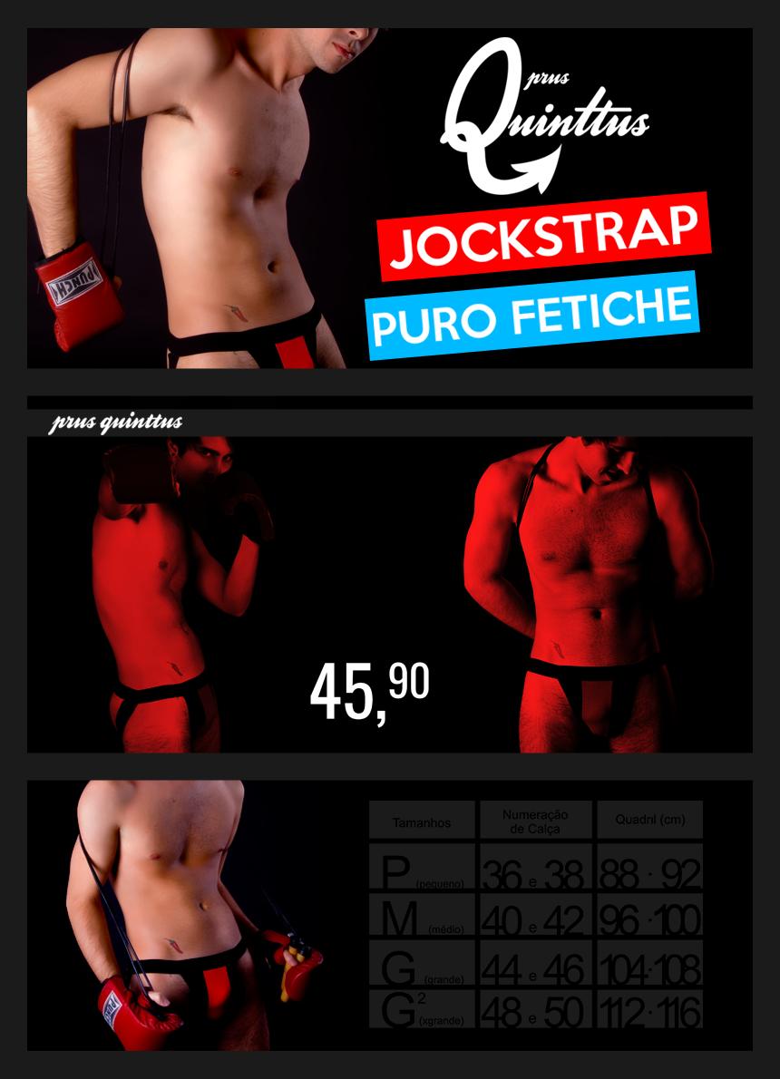 Cueca Jockstrap (Suporte Atlético) Fetiche Prus Quinttus
