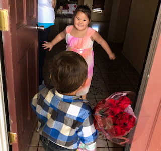 Photos: So cute! Little boy takes Valentine presents to his 'girlfriend'