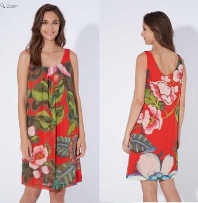 vestido rojo de Desigual