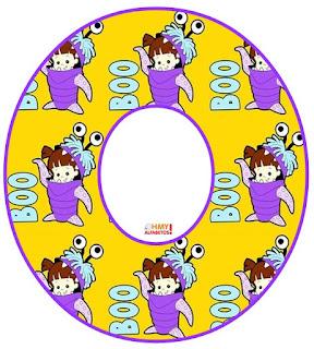 Alfabeto de Boo de Monsters Inc. con Disfraz.