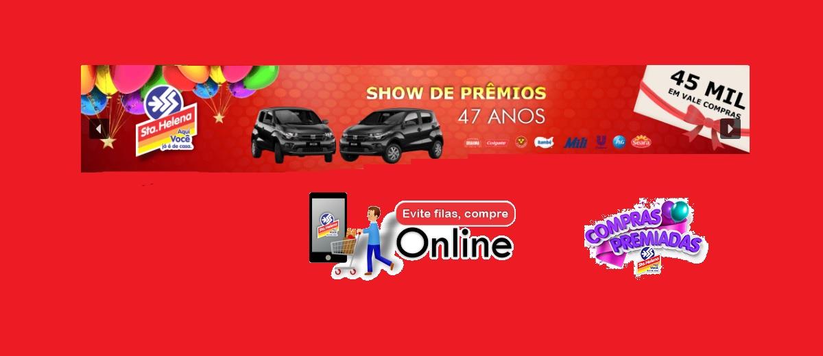 Promoção Super Santa Helena 47 Anos Show de Prêmios - Aniversário 2021 Supermercados