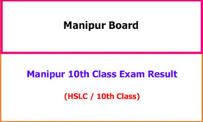 Manipur 10th Class Exam Result
