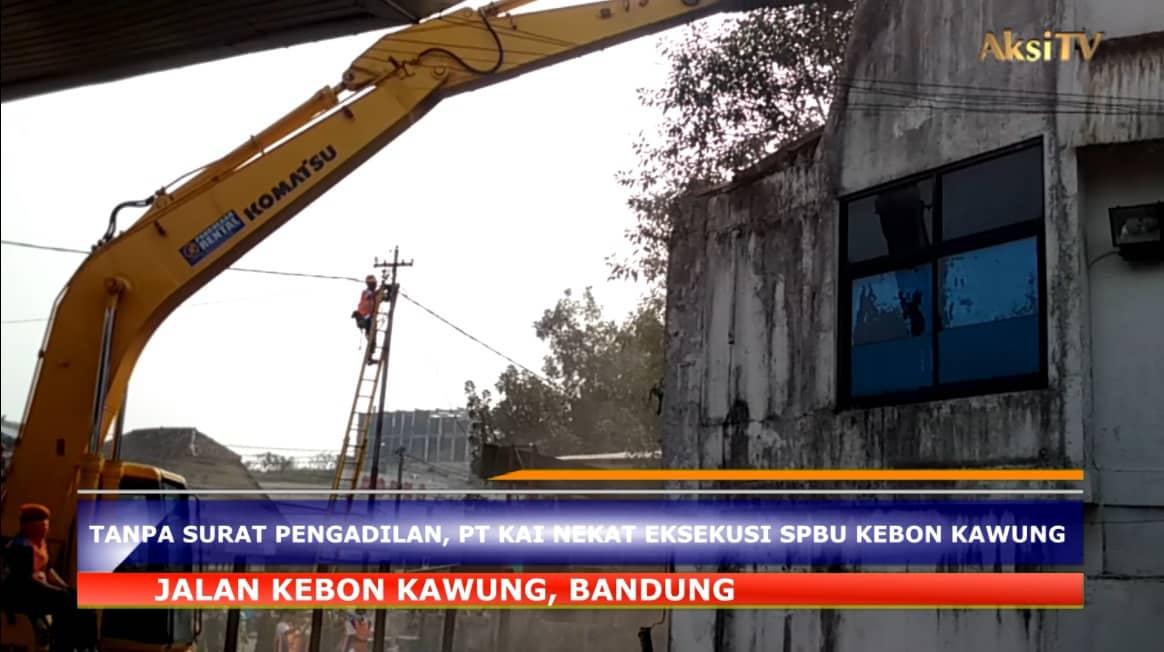 Tanpa Surat Pengadilan, PT KAI Nekat Eksekusi SPBU Kebon Kawung