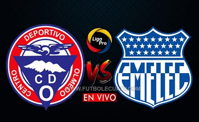 Olmedo recibe a Emelec en vivo a partir de las 20h00 horario local, por la jornada seis del campeonato ecuatoriano, siendo emitido por GolTV Ecuador a efectuarse en el  estadio Fernando Guerrero. Con arbitraje principal Álex Cajas.