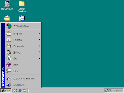 Windows 98 Screen