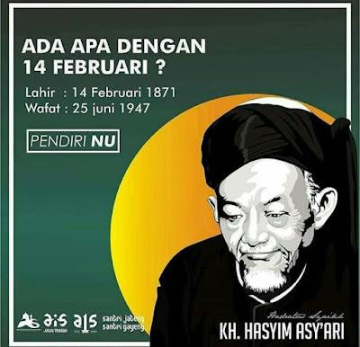 14 Februari KH Hasyim Asyari