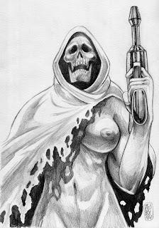 Captain Death était visuellement sexualisée par Alexis Bacci au départ