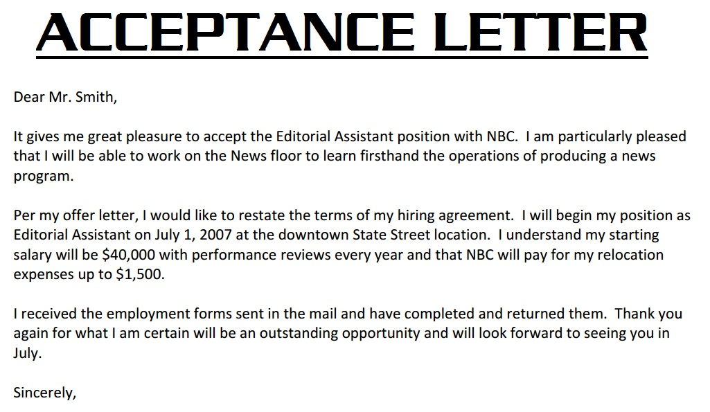 Thank You Letter For Job Offer Thank You Letter For Job Offer Job