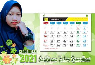 Desain Kalender Duduk 2021 Custom CDR